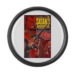 Satan's Daughter Large Wall Clock