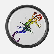 Rainbow Lizard Large Wall Clock