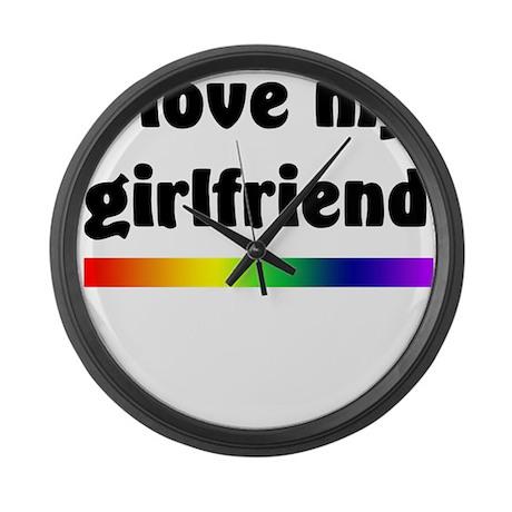 I Love My Girlfriend Large Wall Clock