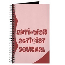 Anti-War Activist Journal in Red and Pink