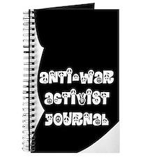 Anti-War Activist Journal in Black and White