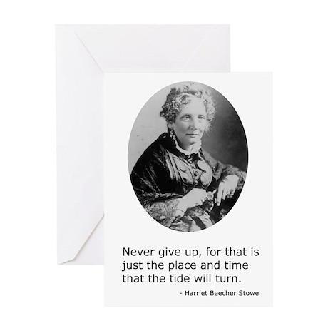 Harriet Beecher Stowe Greeting Card