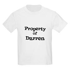 Property of Darren Kids T-Shirt