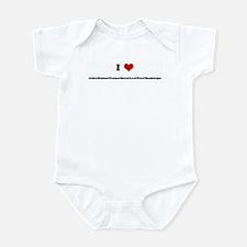 I Love Julle&Emma&Nanna&Saxo& Infant Bodysuit