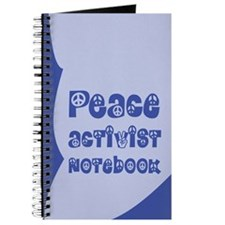 The Peace Activist Notebook in Blue