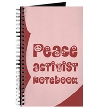 The Peace Activist Notebook in Pink / Dark Red