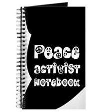 The Peace Activist Notebook in Black and White