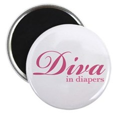 """Diva in Diapers"" Magnet"