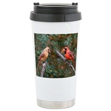 Two Cardinals Travel Mug