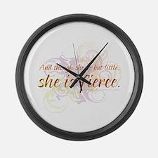 She is Fierce - Swirl Large Wall Clock