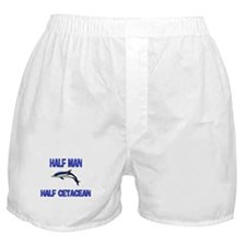 Half Man Half Cetacean Boxer Shorts