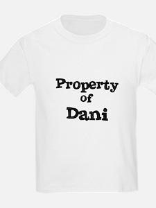 Property of Dani Kids T-Shirt