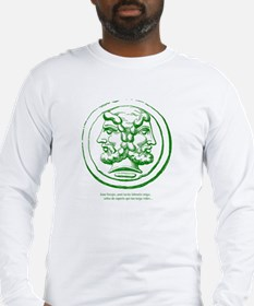 Janustextfrontgreen Long Sleeve T-Shirt