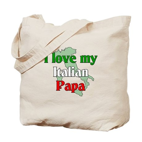 I Love My Italian Papa Tote Bag