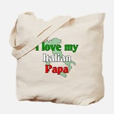 I Love My Italian Papa Tote Bag