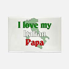 I Love My Italian Papa Rectangle Magnet