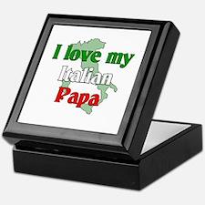I Love My Italian Papa Keepsake Box