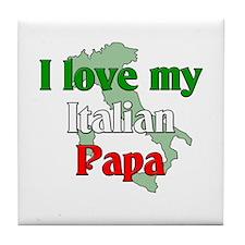 I Love My Italian Papa Tile Coaster