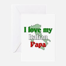 I Love My Italian Papa Greeting Cards (Package of