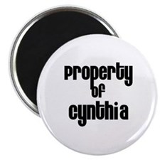 Property of Cynthia Magnet