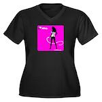 GlamourNation.com Women's Plus Size V-Neck Dark T-
