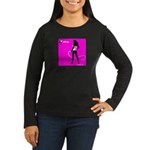 GlamourNation.com Women's Long Sleeve Dark T-Shirt