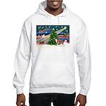 Xmas Magic & Whippet Hooded Sweatshirt