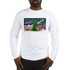 Xmas Magic & Whippet Long Sleeve T-Shirt
