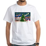 Xmas Magic & Whippet White T-Shirt