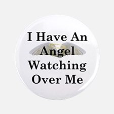 "Watching Over Me 3.5"" Button"