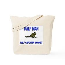 Half Man Half Capuchin Monkey Tote Bag