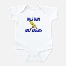 Half Man Half Canary Infant Bodysuit
