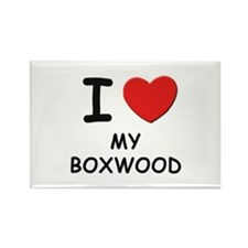 I love MY BOXWOOD Rectangle Magnet