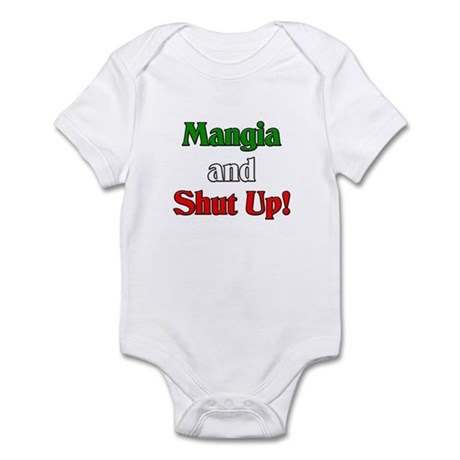 Mangia and Shut Up! Infant Bodysuit