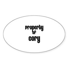 Property of Cory Oval Decal