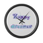 Happy Dreamer Large Wall Clock