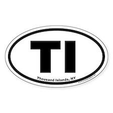 Thousand Islands NY TI Euro Oval Bumper Stickers