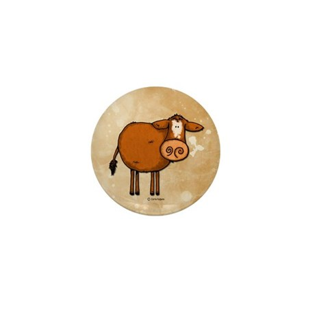 peace love cow Mini Button (10 pack)