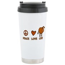 peace love cow Travel Mug