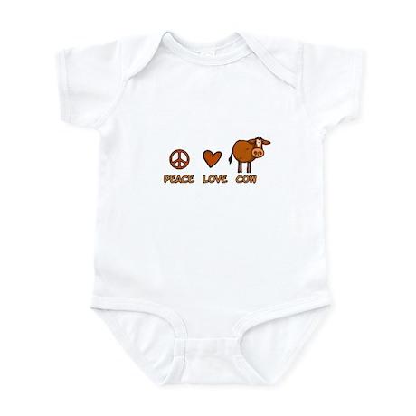 peace love cow Infant Bodysuit
