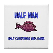 Half Man Half California Sea Hare Tile Coaster