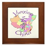 Yunxiao China Map Framed Tile