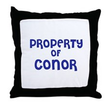 Property of Conor Throw Pillow
