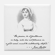 Jane Austen Attitude Tile Coaster