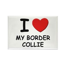 I love MY BORDER COLLIE Rectangle Magnet (10 pack)