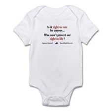 Right to Vote for Right to Life Infant Bodysuit