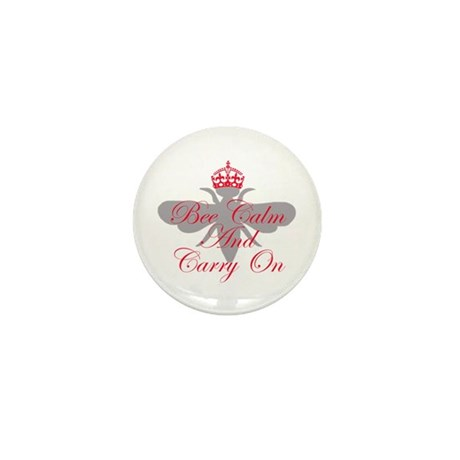 Bee Calm and Carry On Mini Button (10 pack)