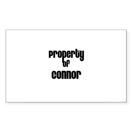 Property of Connor Rectangle Sticker