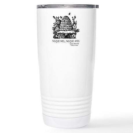 Latin Bees Proverb Stainless Steel Travel Mug