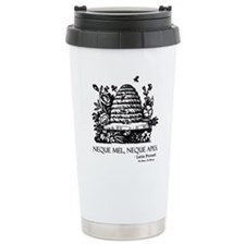 Latin Bees Proverb Travel Mug
